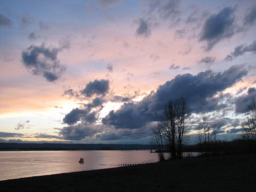 Sunset at the Columbia River (1)